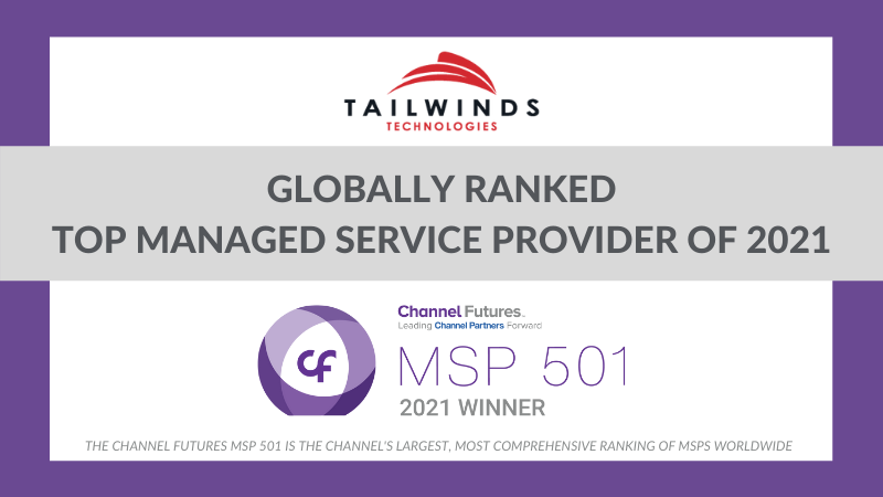 TailWinds ranks in to 50 on Channel Futures MSP 501 List